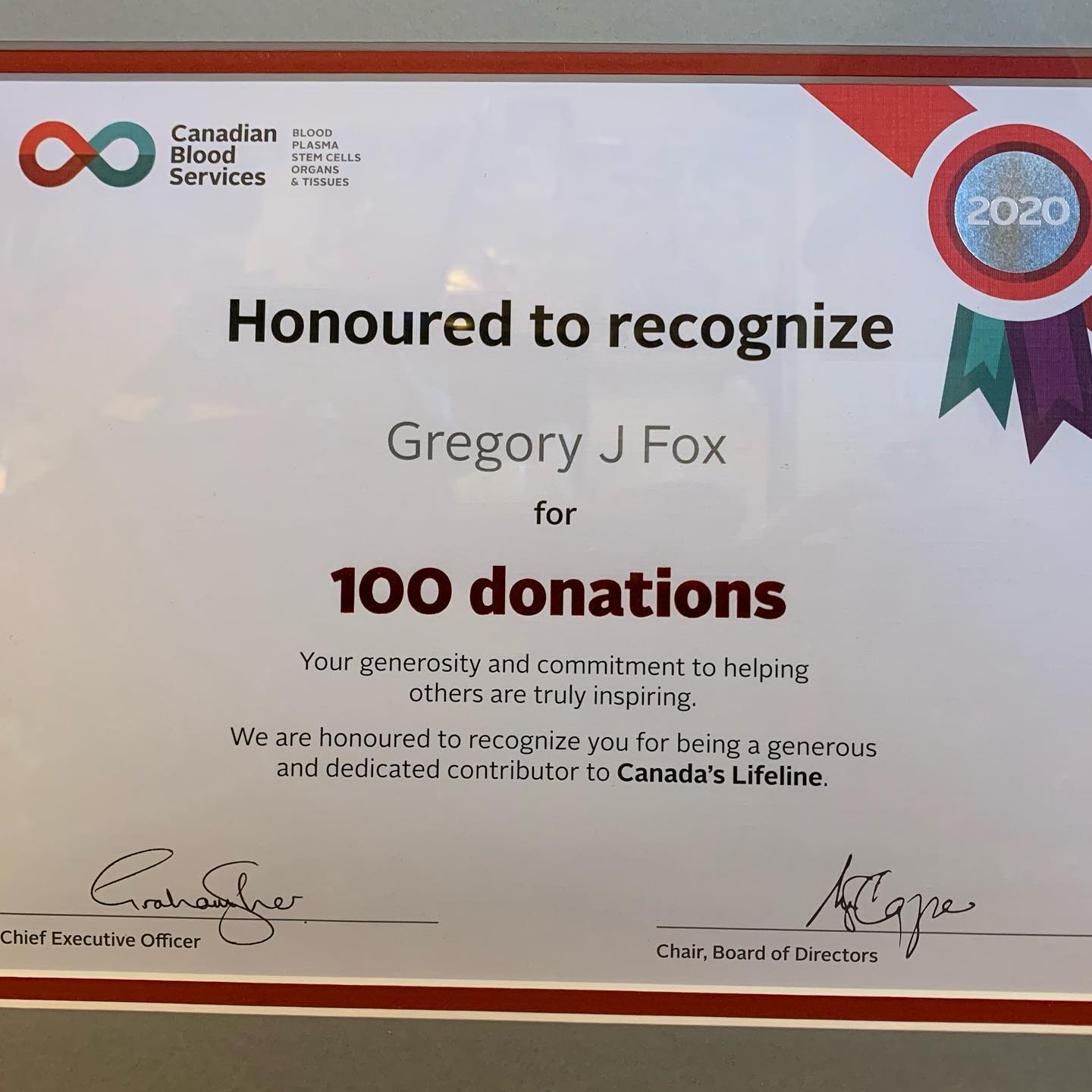 There are a few things in life that I am quite proud of, and this is definitely one of them. I started regularly donating in my early 20s and don't plan on stopping any time soon. #blooddonor #itsinyoutogove #milestone