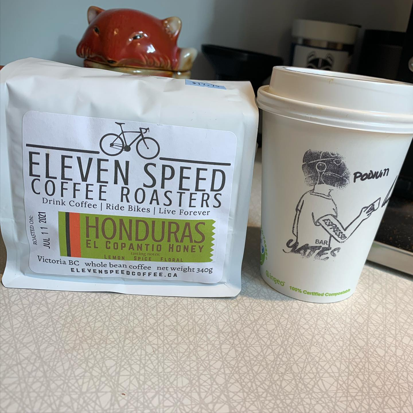 Two bridge crossings in two days. Who could have imagined it? Today's was a mission to get some more @elevenspeedcoffee from @dolcevitayates #coffee #yyjcoffee #local #localbusiness